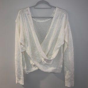 Forever 21 crossed back sweater
